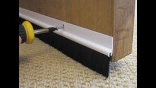 Установка уплотнителей для дверей в домашних условиях