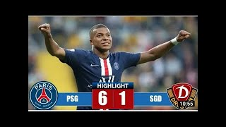 PSG vs Dynamo Dresden 6-1 - All Goals & Highlights - Club Friendly 2019 HD