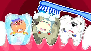 Wolf Family⭐️ Brush Your Teeth and Protect Your Teeth with Wolfoo - Wolfoo Kids Stories Kids Cartoon