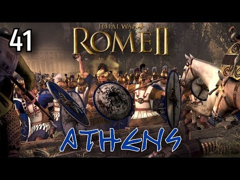 Total War: Rome 2 - Athens Campaign - #41 ~ Barbarian Camp Battle