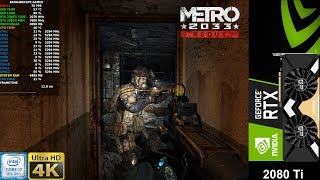 Metro 2033  Redux Very High Settings 4K | RTX 2080 Ti | i7 8700K