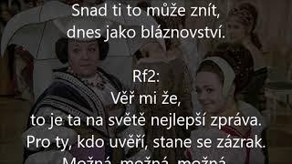 Tři oříšky pro popelku, Iveta Bartošová, karaoke lyrics