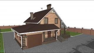 Типовой проект дома с мансардой и гаражом  B-072-ТП(, 2016-10-24T10:45:22.000Z)