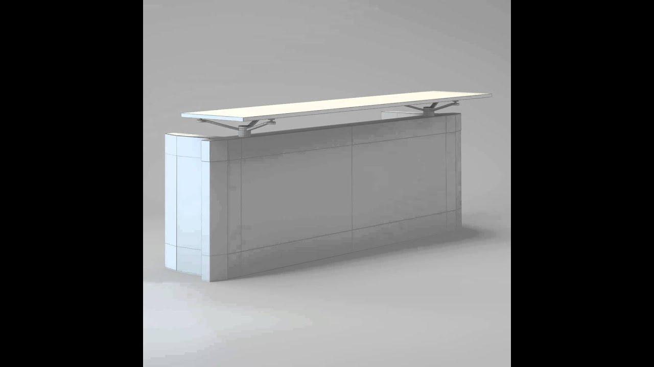 Contemporary reception desk 3D model from CGTrader.com ...