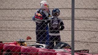 Max Verstappen crash at Silverstone 2021 [4K]