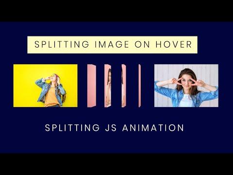 Splitting Image Animation on Hover | Splitting JS Tutorial