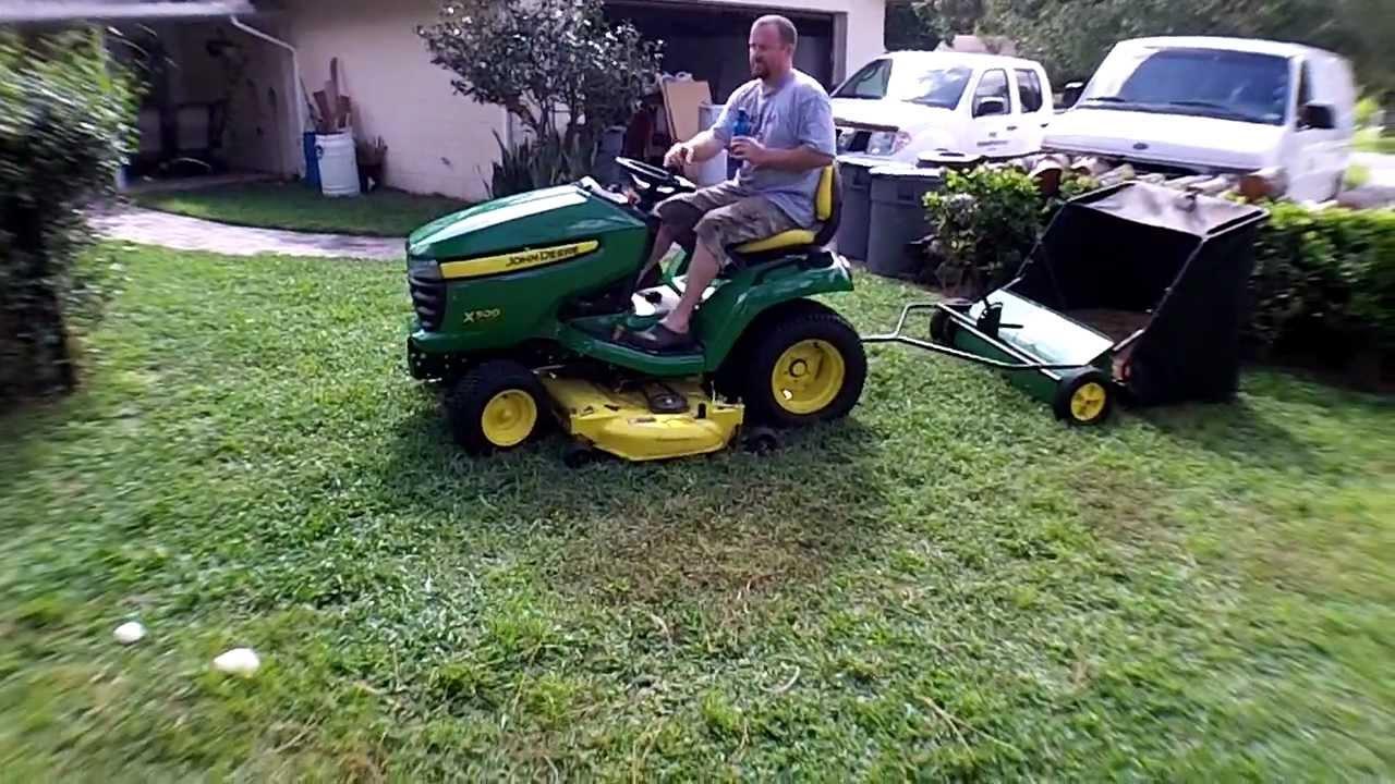 John Deere 42 Quot Lawn Sweeper Youtube