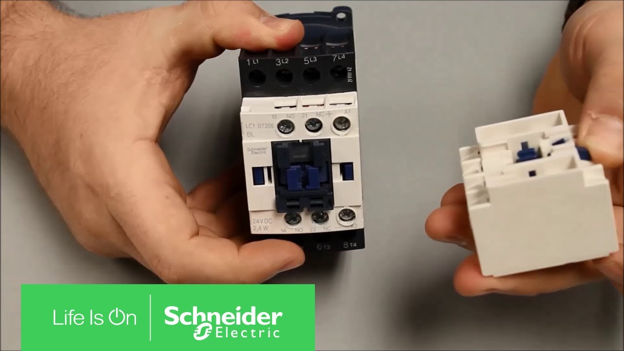 Removing Auxiliary Contact Block from TeSys D Series Contactor | Schneider  Electric Support