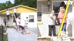 Firefighters Surprise WWII Veteran By Painting House