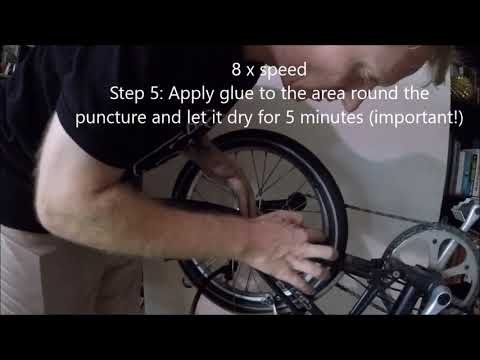 Flat bicycle tyre: Repair tube without removing the wheel