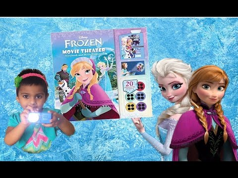Disney Frozen Movie Theater Storybook and Movie Projector | Toy Review