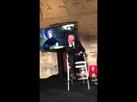 Game of Thrones Tywin Lannister aka Charles Dance at Ad Week UK