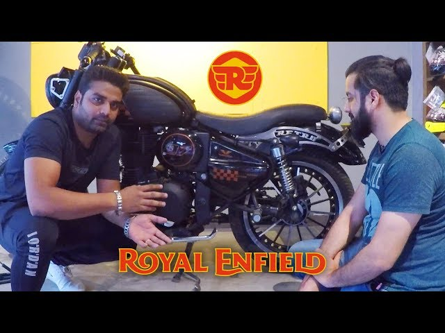 Royal Enfield Modification / Modified Bullet at Rideofy - King Indian