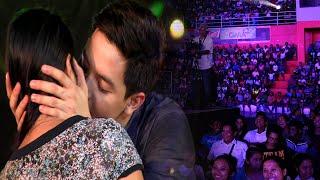 Alden Richards kisses a fan! (Sultan Kudarat Province)