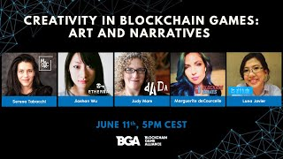 Creativity in Blockchain Games: Art and Narratives — Women Series — Part 2 (June 11th, 5PM CEST)