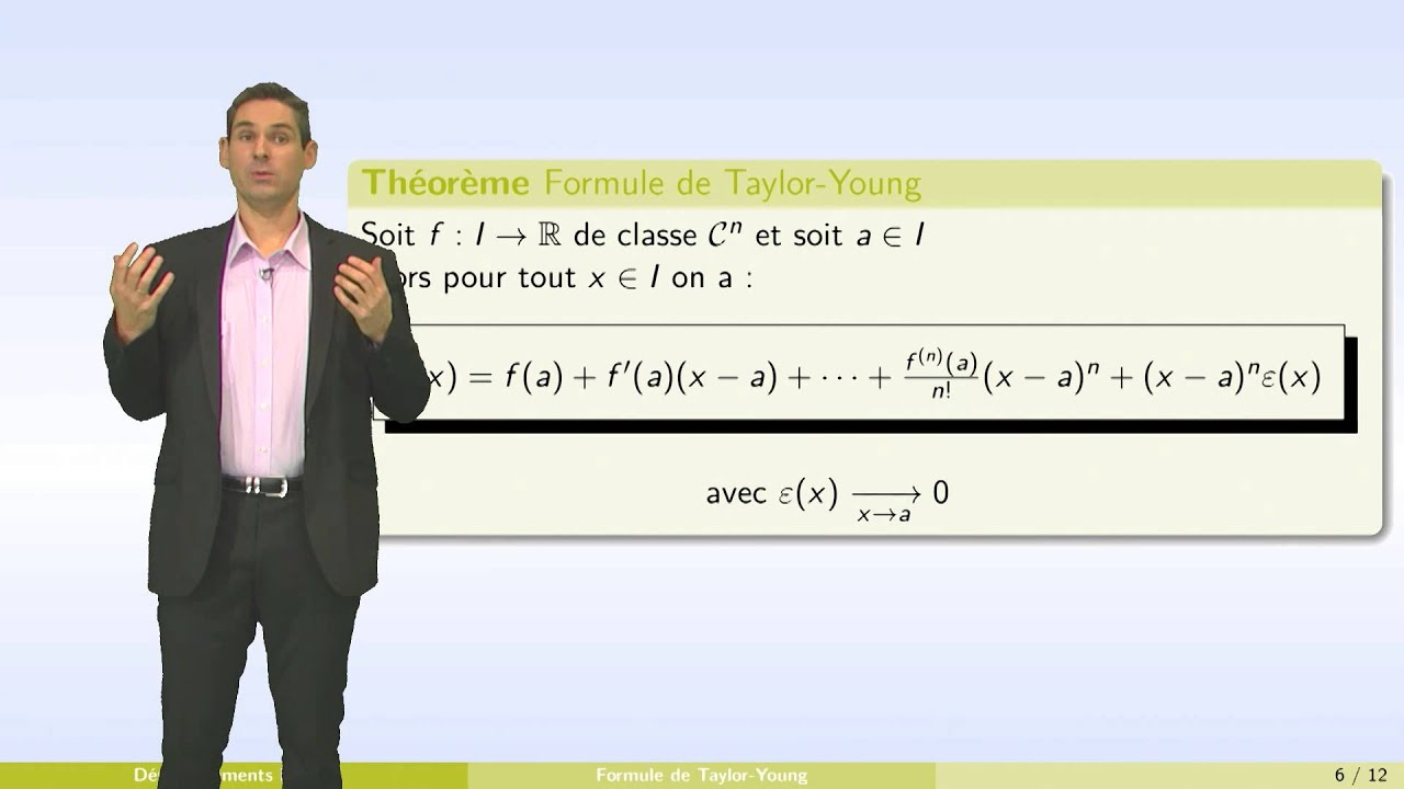 Developpements Limites Partie 1 Formules De Taylor Youtube