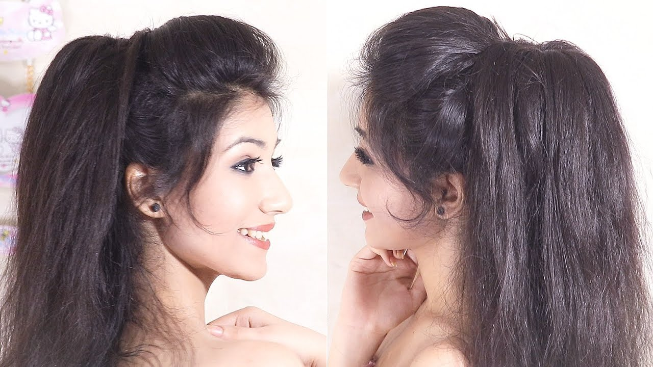 Image result for Amazing Volumized Ponytail Hairstyle | Easy Prom Ponytail Hairstyle | Messy Ponytail