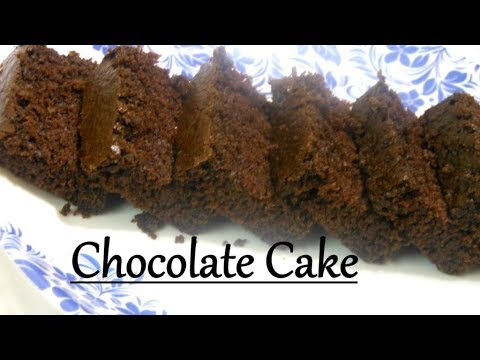 How To Make Eggless Chocolate Cake In Microwave In Hindi