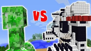 CREEPER TITAN VS. ROBO MECH FUNCIONAL (MINECRAFT)