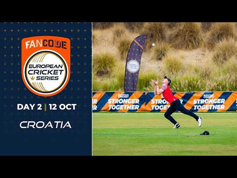 🔴 FanCode European Cricket Series Croatia, Day 2 | T10 Live Cricket