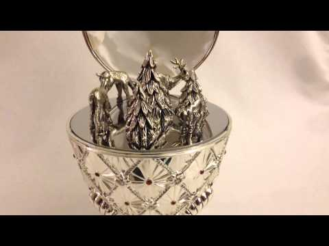 Wallace Silversmiths First Edition Silver Plated Musical Holiday Egg