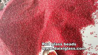 red glass raw material for red glass beads and red crushed glass chips
