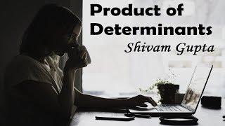 Determinants Product JEE Mains Maths Tutorials  NIMCET MCA JNU BHU