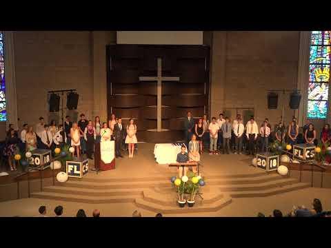 2018 Forest Lake Christian School 8th Grade Graduation 2 Invocation Salutatorian start