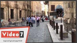 """بعد شائعة رصف شارع المعز.. """"اليوم السابع"""" يرصد عملية تطوير باب الوزير"""