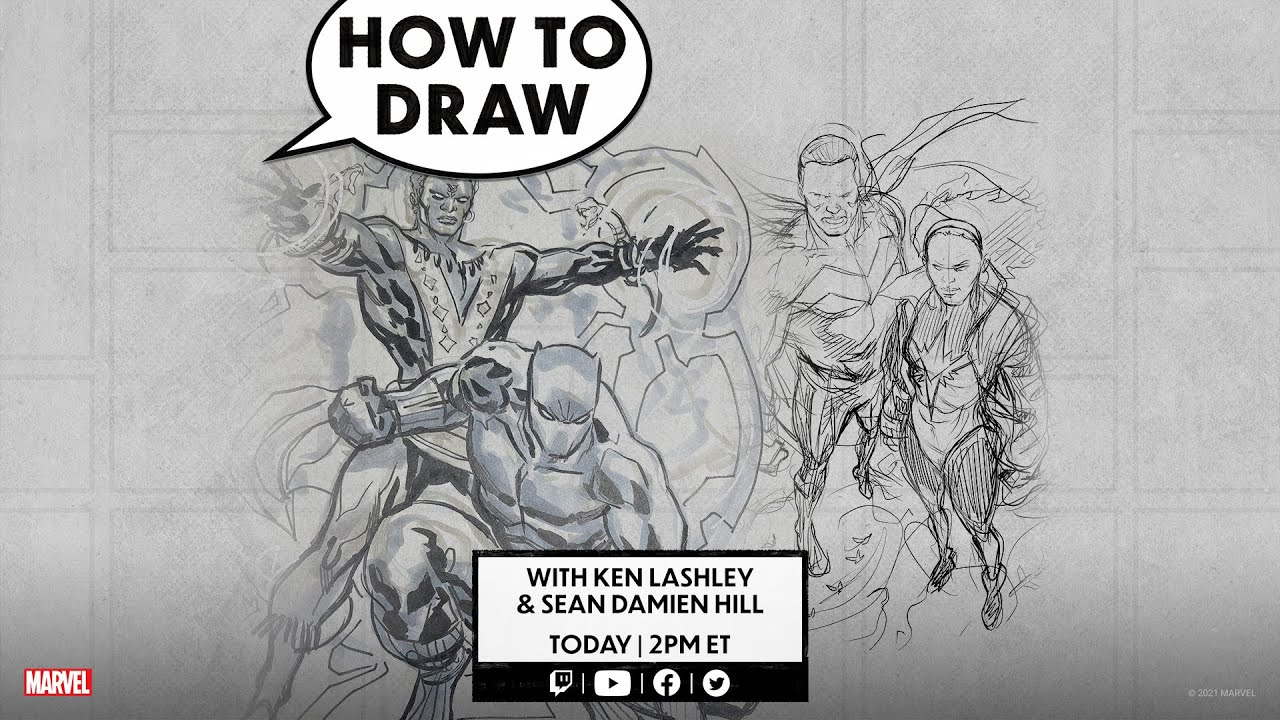 How to Draw LIVE! w/ Ken Lashley and Sean Damien Hill