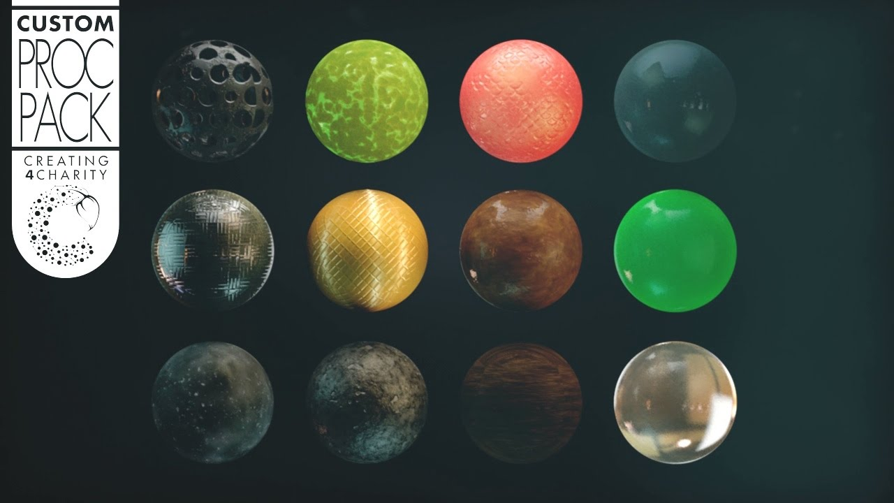 Cinema 4D Procedural Texture Pack Vol.1 Promo By Kyrill Popeye - YouTube