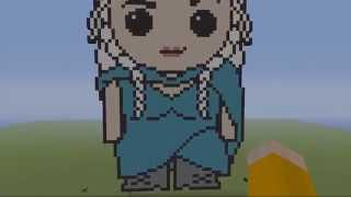 Daenerys Targaryen ~ GOT MC Game Of Thrones MINECRAFT Pixel Art!