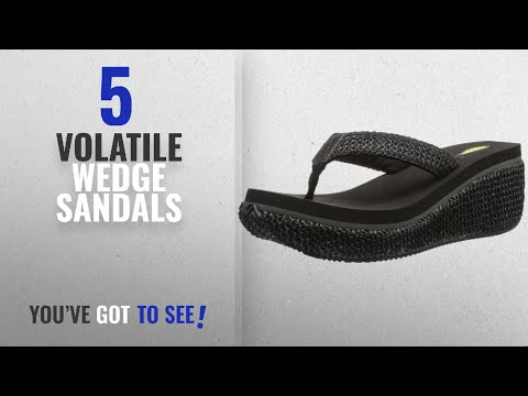 Top 5 Volatile Wedge Sandals [2018]: Volatile Women's Island Wedge Sandal, Black, 7 B US