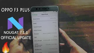 Oppo F3 Plus Update Nougat Download