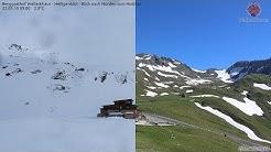 Zeitraffer: Schneeschmelze in den Alpen (30.06.2019)