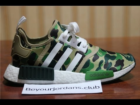 official photos eed34 0e136 Adidas NMD X Bape real materials + real boost 200pairs limited BA7326 from  Beyourjordans.club