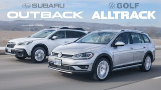 Which Lifted Wagon is the BEST? 2020 Subaru Outback vs VW Golf Alltrack