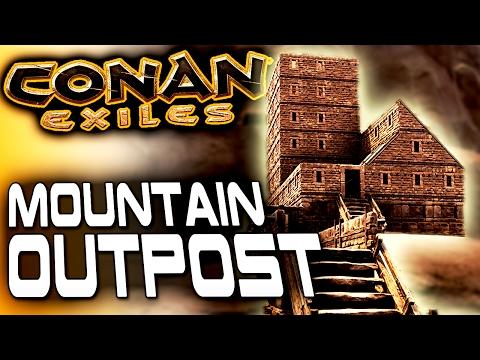 Conan Exiles Base Building - Stonebrick Mountain Outpost - Conan Exiles Building Into A Mountain
