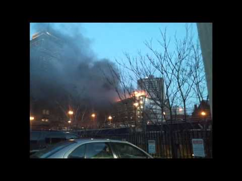 Boston Fire in Back Bay, March 13, 2012