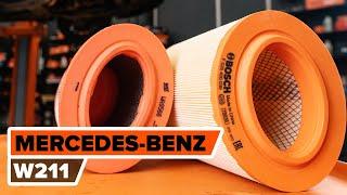 Substituição Kit de acessórios, pastilhas de travão MERCEDES-BENZ E-CLASS: manual técnico