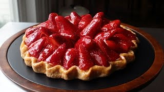 "Fresh Strawberry Tart - Easy ""Free-Form"" Strawberry Tart Recipe thumbnail"