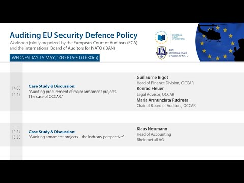 #ECAauditdefence: Auditing Security and Defence Policies of the European Union