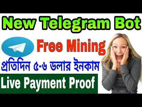 New Free Telegram Bot Daily 5-6 Dollar Earn, Live Payment Proof, Best Telegram Bot 2019.