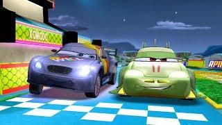 Neon Komodo VS Max & Lightning Mcqueen Disney PIXAR CARS Racing Game Play