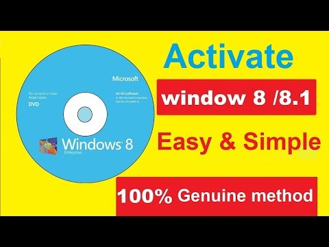 How to Activate Windows 8 Pro || All...