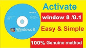 how to activate windows 8/8.1 without product key