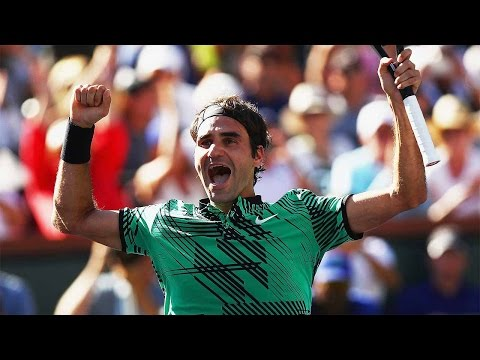 Moet Moment Federer Wins Indian Wells 2017