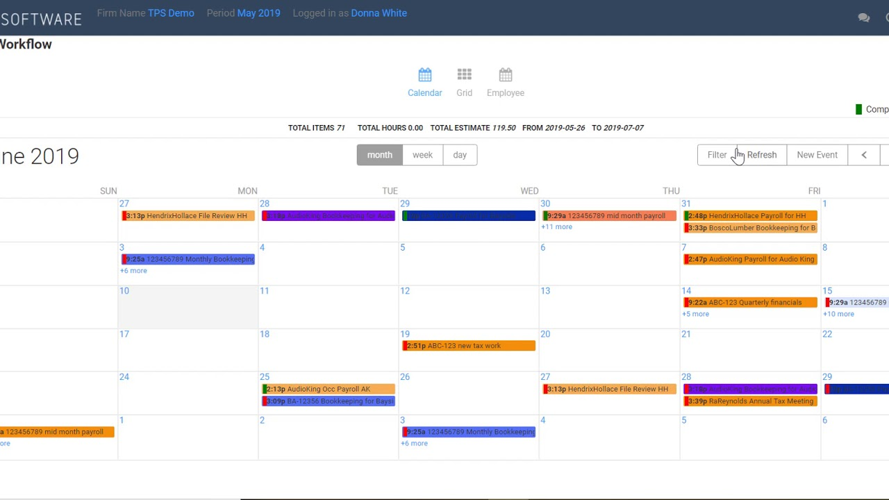 Tps Calendar.Workflow Calendar Filters Tps Cloud Axis