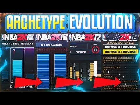 HOW ARCHETYPES HAVE EVOLVED! NBA 2K14 - 2K19 ( MYPLAYER EVOLUTION )