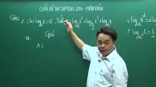 Đề thi THPTQG 2016 - Thầy Lê Bá Trần Phương - Hướng dẫn giải đề môn Toán (P1)